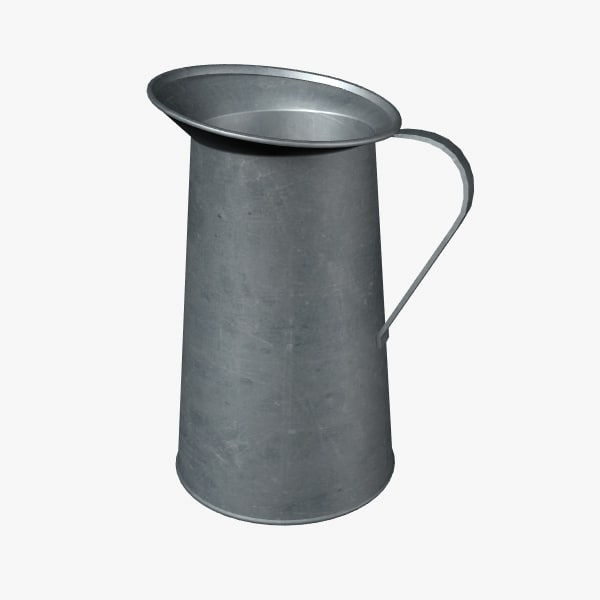 pewter pitcher 3d max