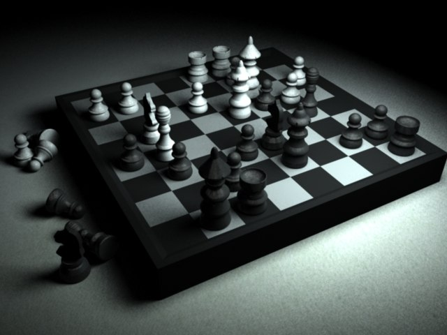 free obj mode chess board