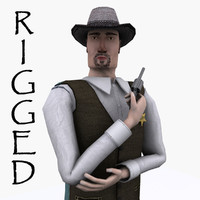 rigged sheriff 3d max