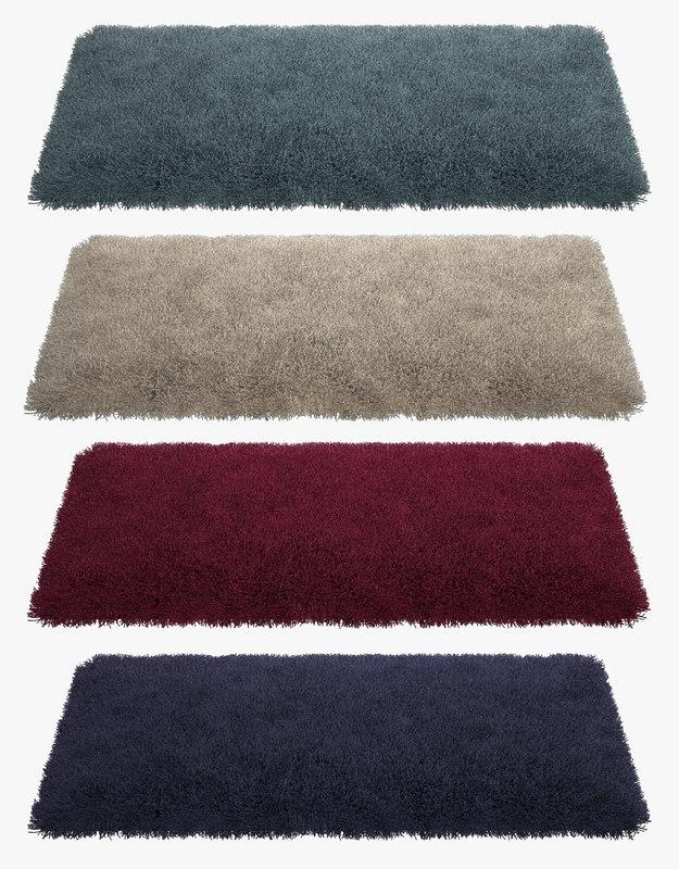 3d model fluffy rugs