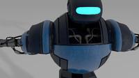c4d futuristic robot