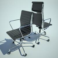 2 Aluminium Armchair by Charles Eames