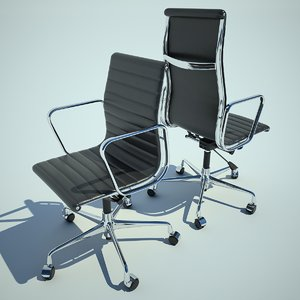 chair armchair aluminium 3d wrl
