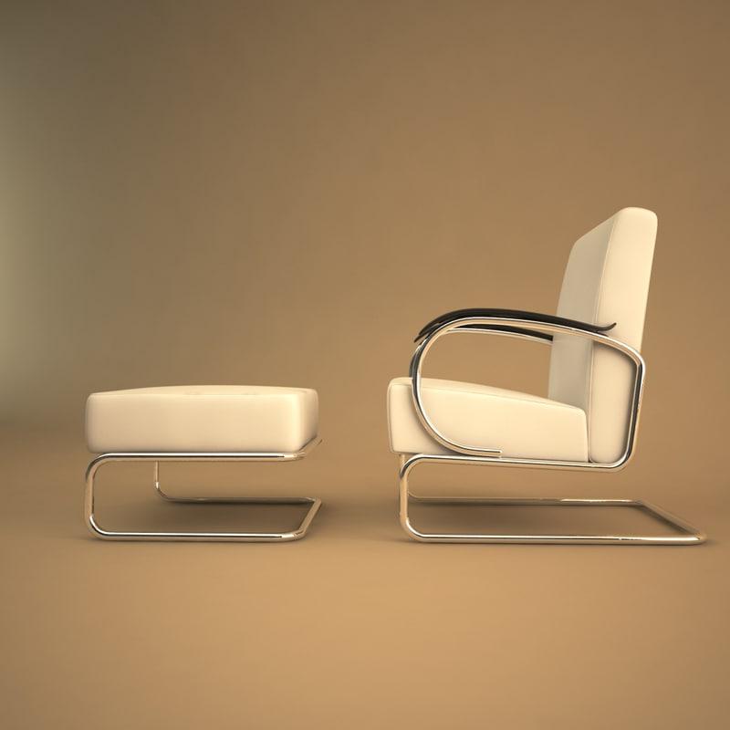 3d model of 407 chair gispen
