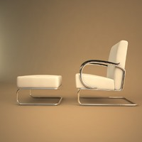 3d model of 407 chair gispen