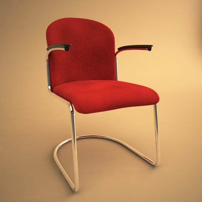 413 chair 3d max