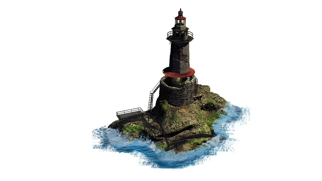 3d lighthouse house model