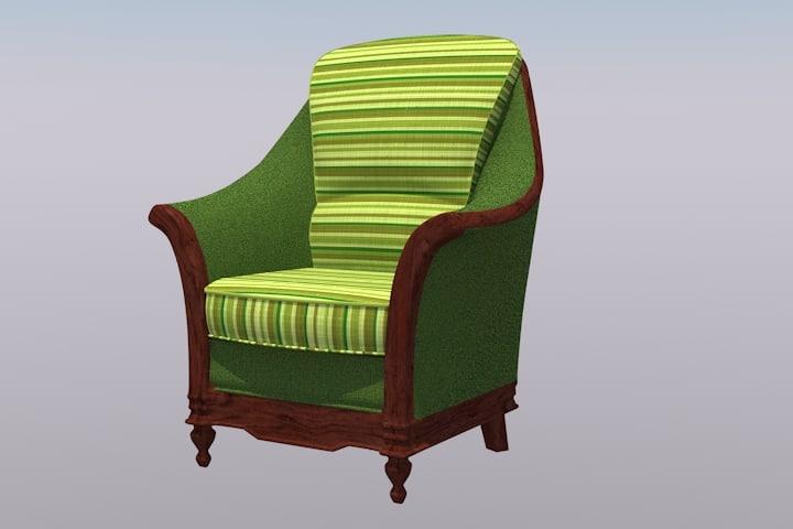 arm chair 3d obj
