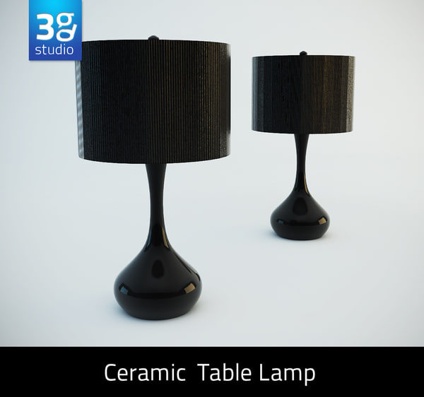 3d model ceramic modern table lamp