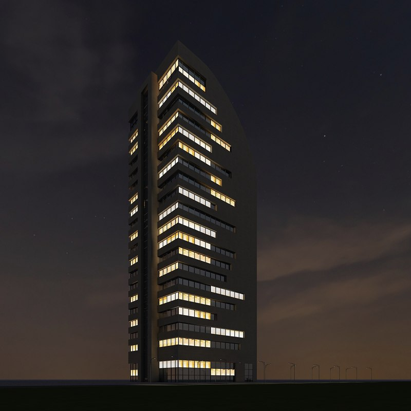 3d new skyscraper 58 night