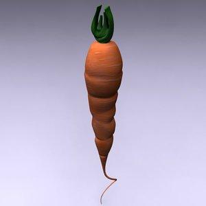 carrot vegetable food 3d model