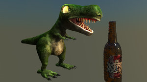 dinosaur big rock c4d