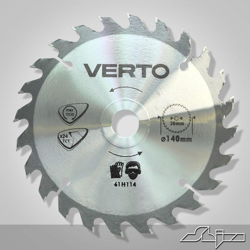 3d model circular blade
