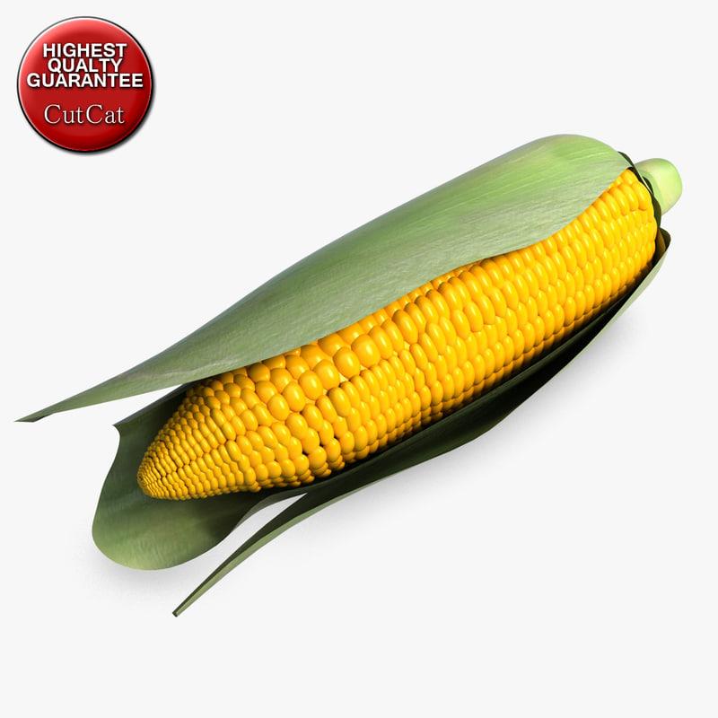 3ds max corn vegetable