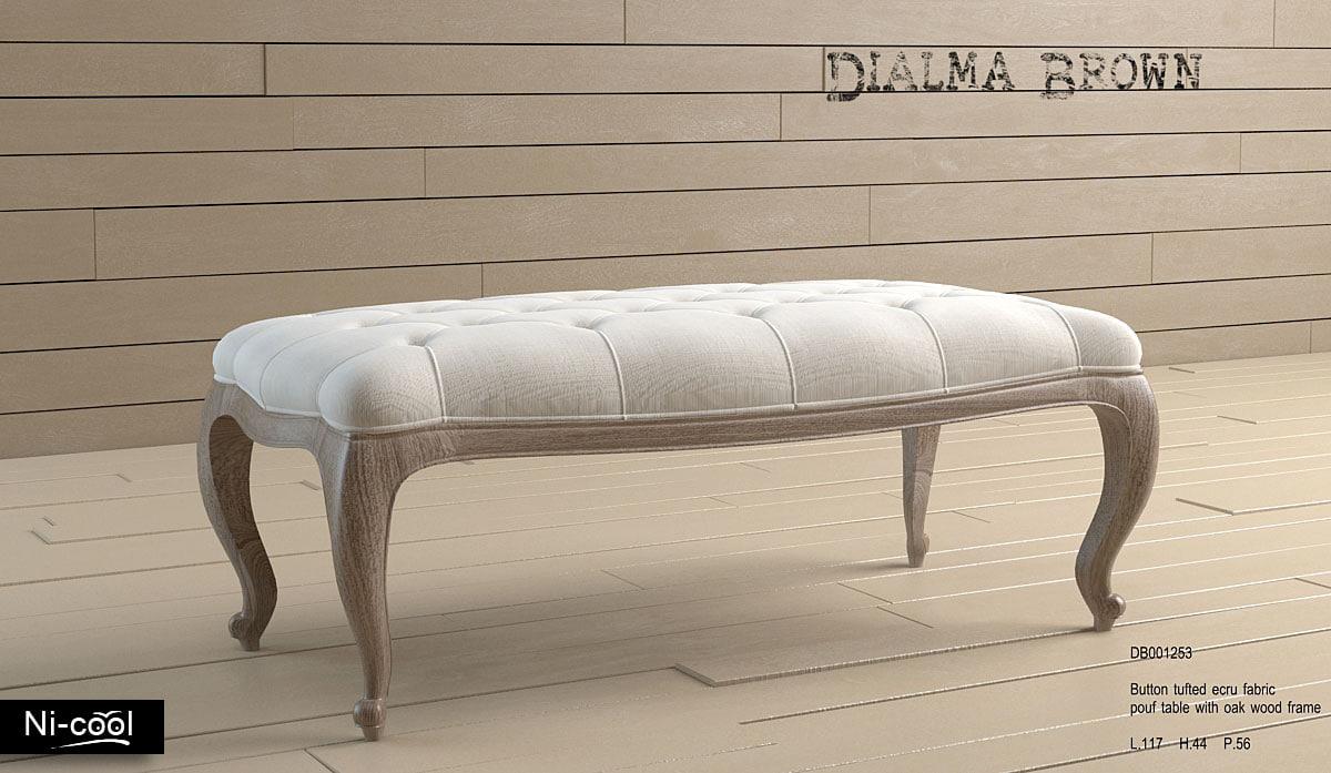 pouf table dialma brown 3d max