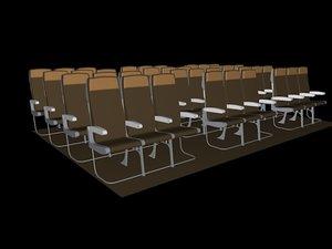 3d model economy seats