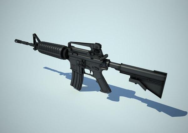 m4 gun rifle 3d max