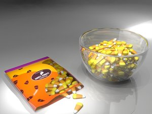 candy corn 3d model
