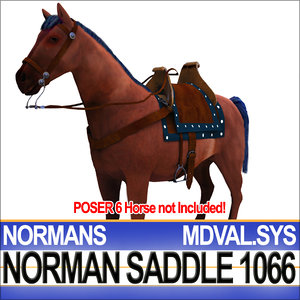 medieval norman saddle bridle 3ds