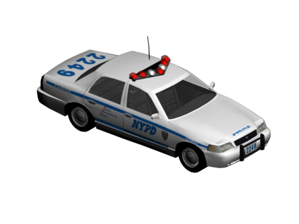 nypd squad car rigged max