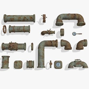 old pipes 3d ma
