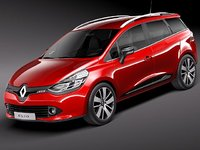 3d renault clio 2013 estate