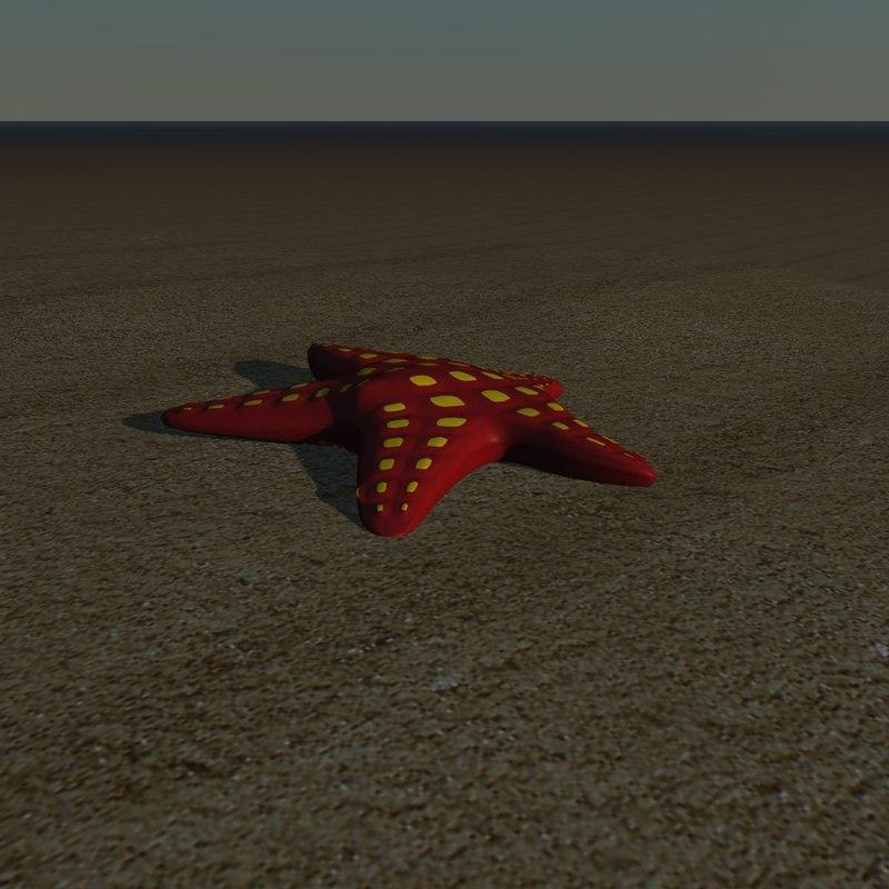 starfish star fish 3d model