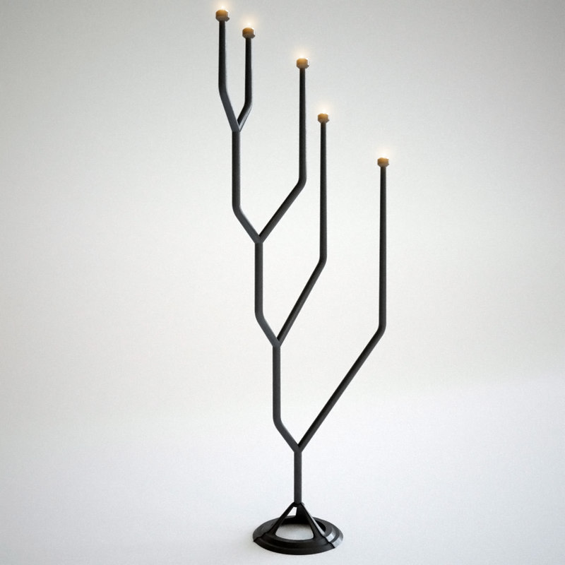 3d spin floor candelabra tom dixon model