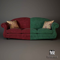 zanaboni oxford sofa 3d model