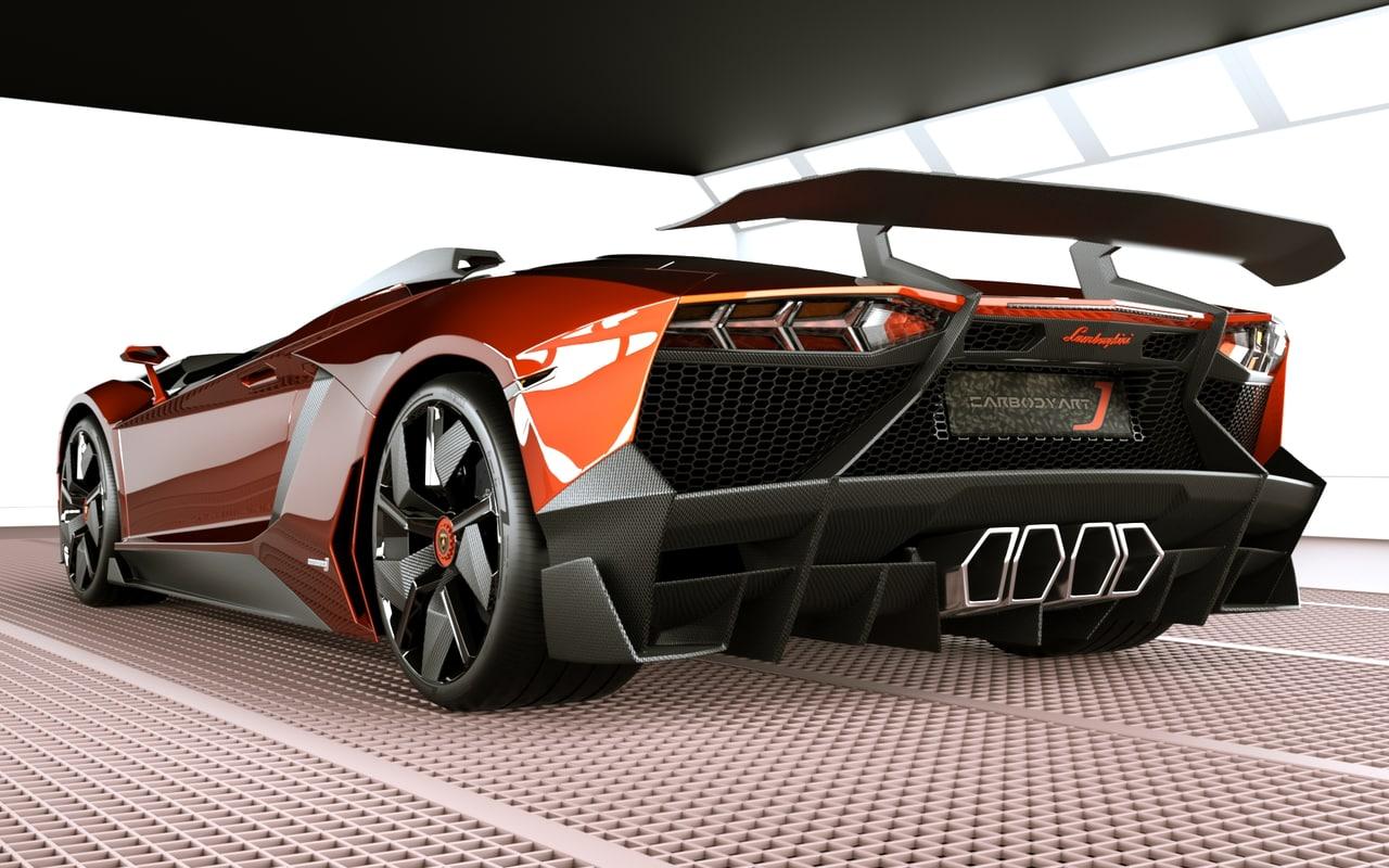 3d Model Lamborghini Aventador J