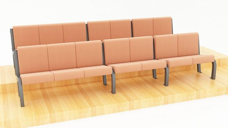 seats auditorium school 3d model