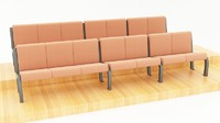 seats auditorium school 3d model