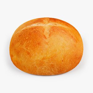 3d model bread white