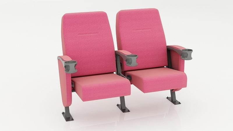 3d model seats auditorium school