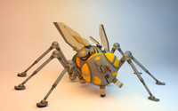 3d model bug robotic