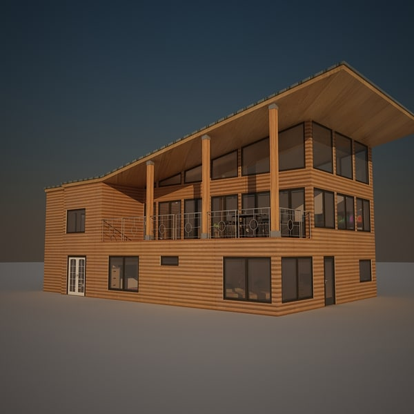 3d model of house interior exterior