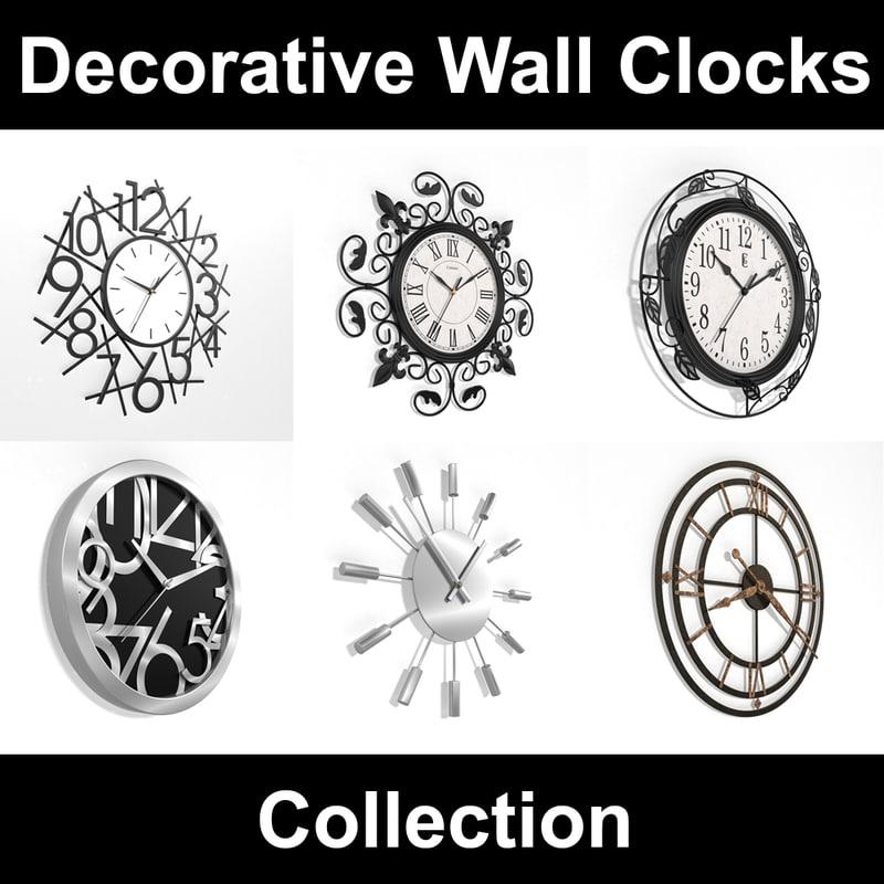 analog decorative wall clock 3d max