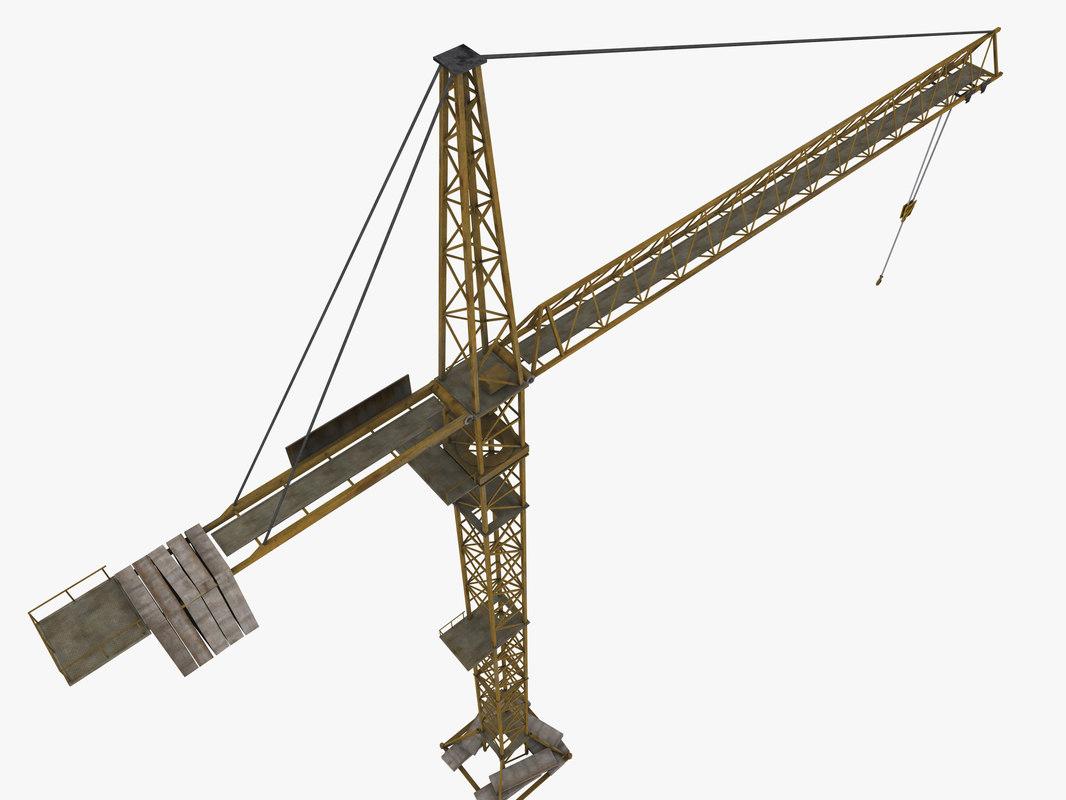 3d construction crane model