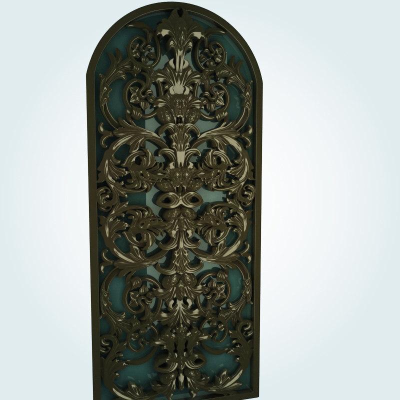 old ornamental 3d model