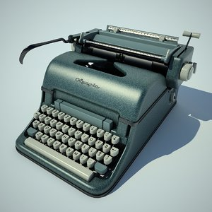 olympia typewriter 3d max