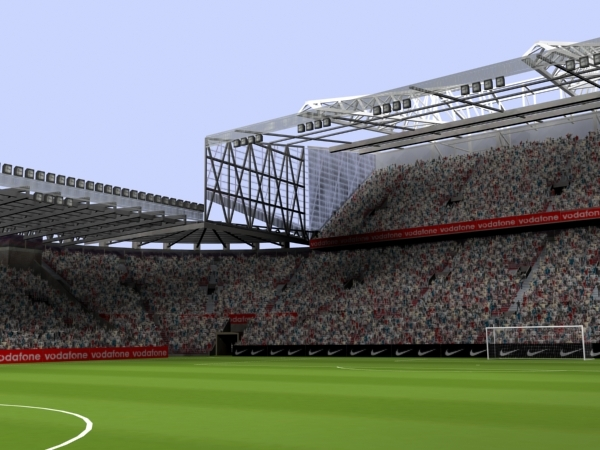 3ds max old trafford stadium audience