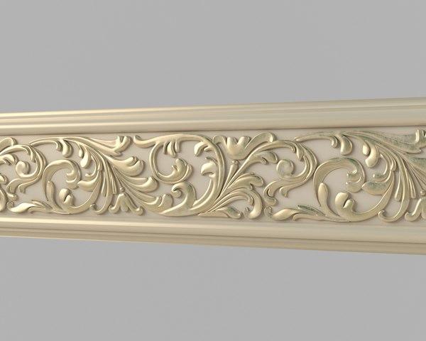3dsmax classical moulding 04 interiors