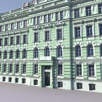 3dsmax european building europe