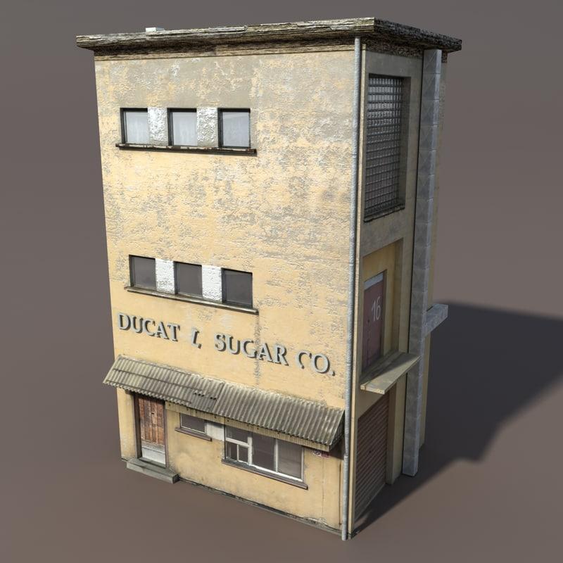 3d model of derelict modelled