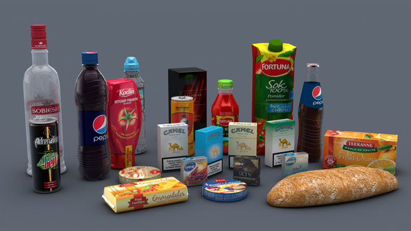 food pack 3d c4d