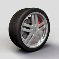 baccarat fusion rims tyre 3d model