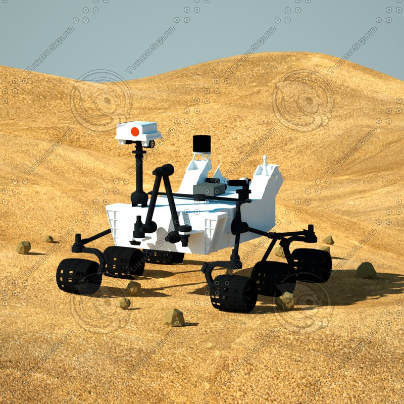 3d model mars science laboratory curiosity