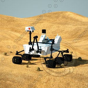 3d model mars science laboratory curiosity