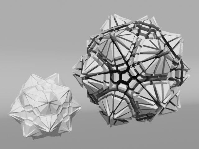 voronoi tesselation 3d obj