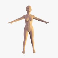 female character 3d c4d